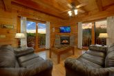 Living Room with Electric Fireplace Sleeps 8