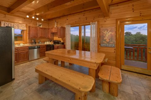 Large Dining Table That Seats 8 - Best Little Pool House In The Smokies