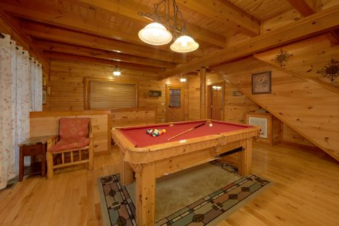 Game Room with Pool Table - Best Little Pool House In The Smokies