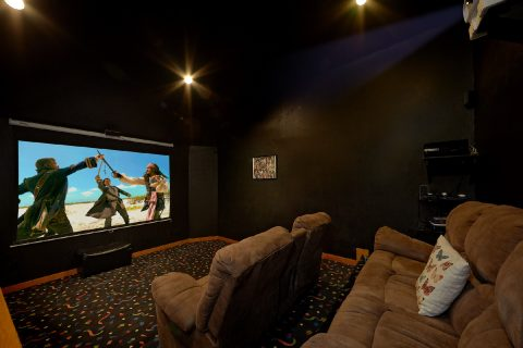 3 Bedroom Cabin at Douglas Lake Theater Room - Best Little Pool House In The Smokies