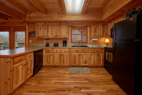 Fully Equipped Kitchen with Bar Area - Big Bear Lodge