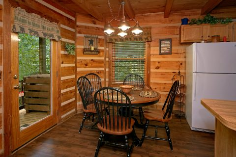 Dining Room Table in Kitchen of Cabin Rental - Big Sky View