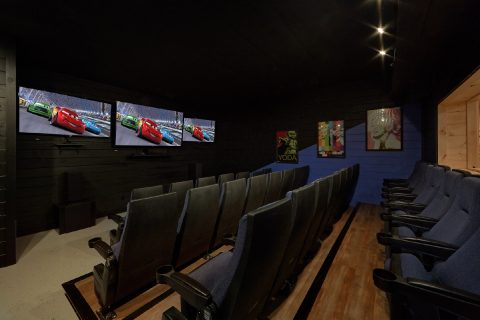 Spacious Theater Room with 33 Seats - Big Vista Lodge