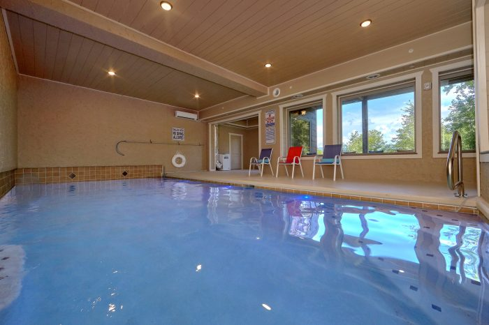Spacious Indoor Pool with Views - Big Vista Lodge