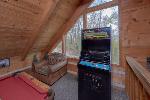 Top Floor Game Room wiht Extra Seating - Black Bear