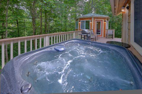 Private Hot Tub 2 Bedroom Cabin Sleeps 8 - Black Bear Hideaway