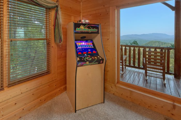 Game Room with Multi Game Arcade - Blue Sky