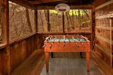 Cabin with outdoor Foosball table