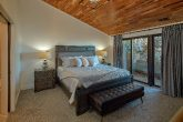 Cabin Master Bedroom with King bed and fireplace