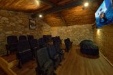 Private Theater Room in Luxury Cabin Rental