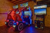 Cabin with 2 Race Car Games and Buck Hunter Game