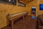 Cabin Game Room with Shuffleboard and Arcades
