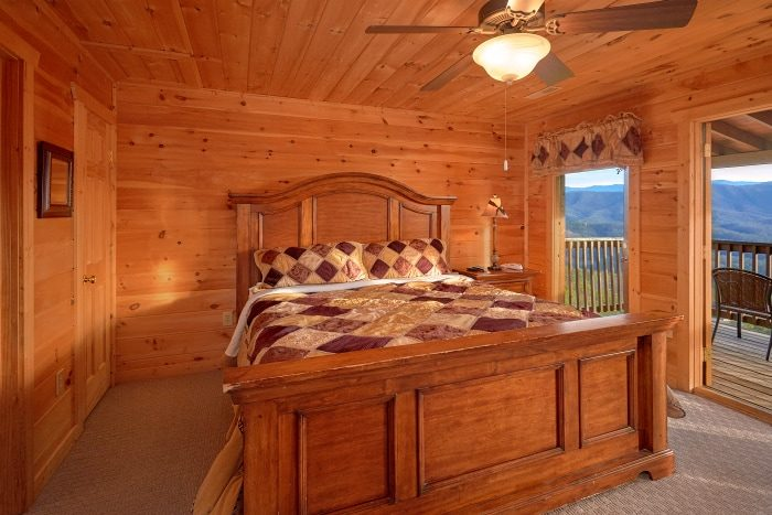 King Bedroom with Mountain Views from deck - Breathtaker