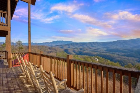 Mountain Views from deck of 5 Bedroom Cabin - Breathtaker
