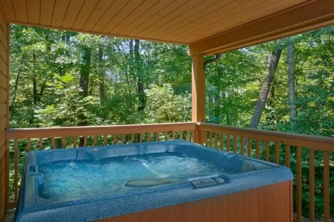 Resort Cabin with Hot Tub and Wooded View - Brentwood