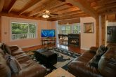 Cabin with Spacious Living Area and Fireplace