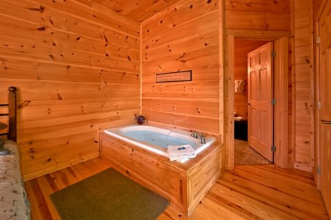Cabin with 3 jacuzzi tubs - Catch A Star