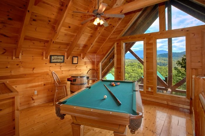 Game Room with Pool Table and Arcade Game - Catch of the Day