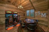 Loft Game Room with Arcade and Poker Table