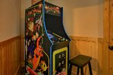 Cabin with Pac Man Arcade Game and Pool Table