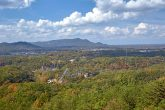 Views of Dollywood from Starr Crest Resort Cabin
