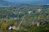 Views of Dollywood Coaster from Cabin Decks