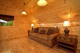 Couch in Loft of Cabin