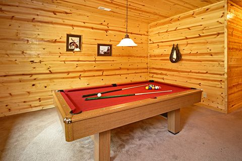 Pool Table in Game Room - Cowboy Up