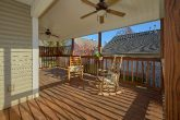 Large Covered Back Deck with Rocking Chairs