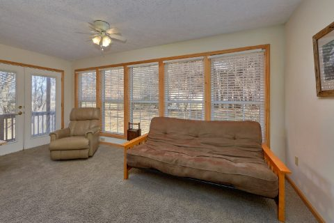Master Bedroom with Futon Near Pigeon Forge - Creekside Cottage