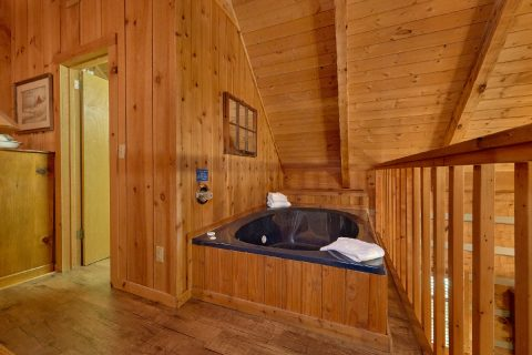 1 Bedroom Cabin with jacuzzi tub in bedroom - Cuddle Creek Cabin