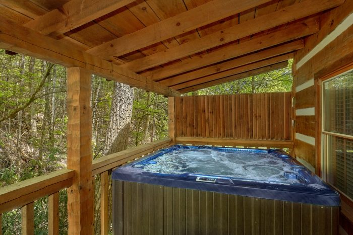 Smoky Mountain Cabin with a hot tub - Cuddle Creek Cabin