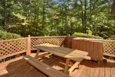 Outdoor Picnic Table with Fire Pit and Hot Tub