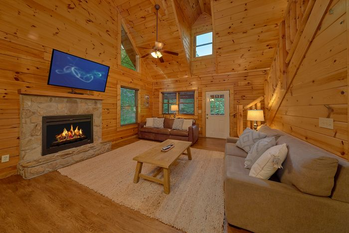 Cabin with Living Room & Kitchen on Main Level - Cuddly Critters