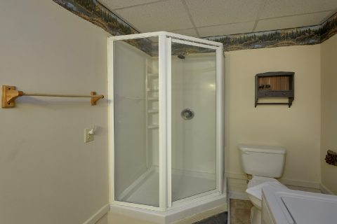 Walk in Shower 2 Bedroom 3 Bath Cabin - Dancing Bear VII