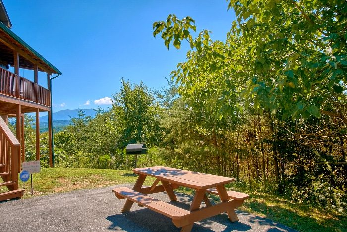 Cabin with Mountain Views and Picnic Table - Eagle's Crest