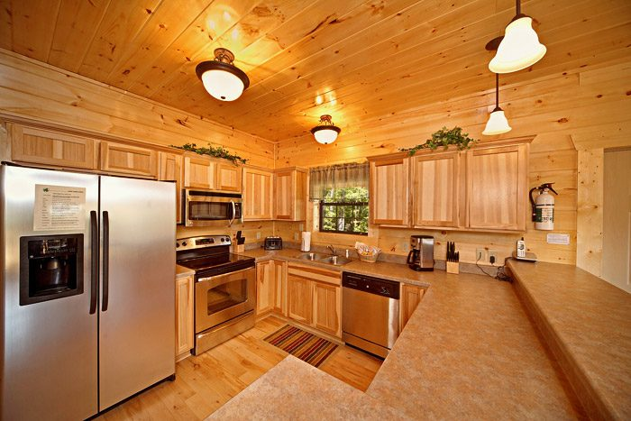 Cabin with Stainless Steel Kitchen Appliances - Easy Like Sunday Morning