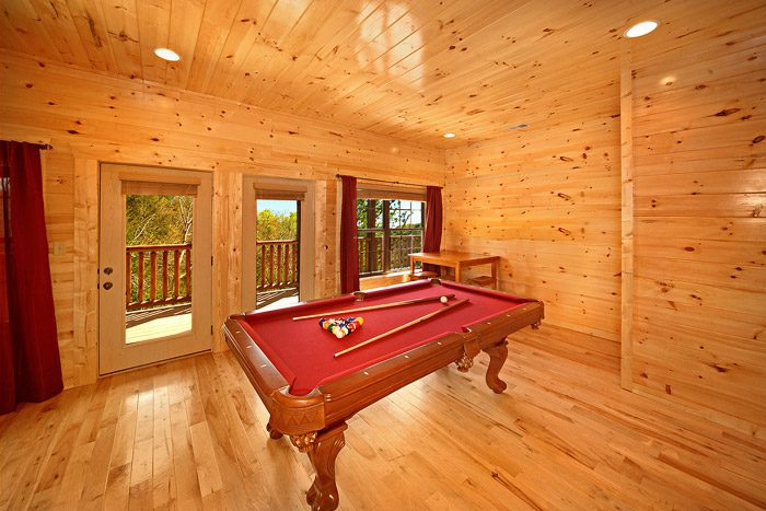 Pool Table with Wooded Views - Easy Like Sunday Morning