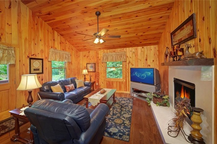 Honeymoon Cabin with Fireplace - Enchanted Evenings