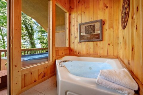 Cabin with Private Jacuzzi Tub and View - Enchanted Evenings