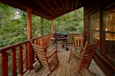 Covered Deck with Rocking Chairs and Grill