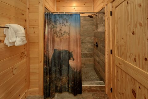 Main level bathroom in Master bedroom in cabin - Endless Sunsets