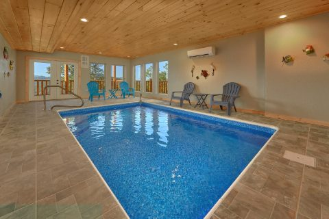 Luxury Cabin with Private Indoor Heated Pool - Endless Sunsets