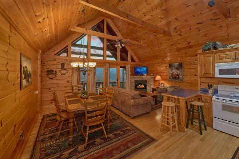 Spacious Gatlinburg 2 bedroom cabin with views - Fireside View