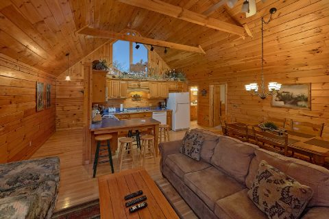 2 bedroom cabin with spacious living room - Fireside View