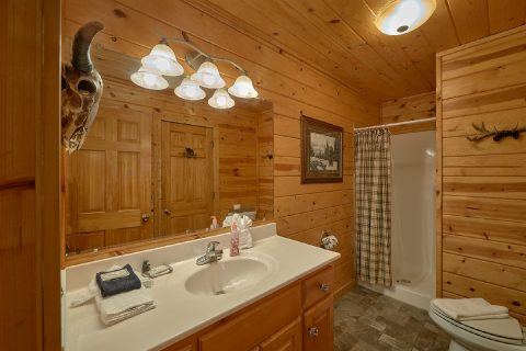 2 private baths in 2 bedroom cabin - Fireside View