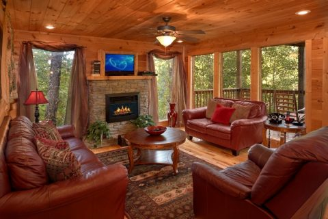 3 Bedroom Cabin with Fireplace and Sleeper Sofa - Fort Knoxx