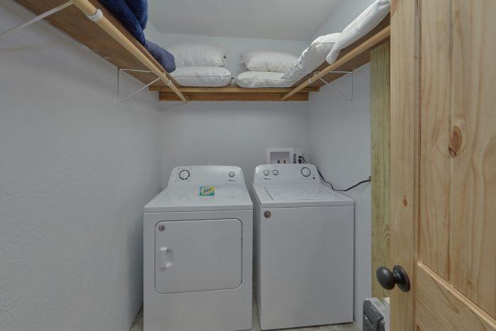 Full Size Washer and Dryer - Gatlinburg Creekside Haven