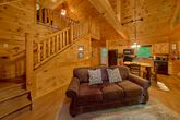 Cabin with Lofted Game Room & Pool Table