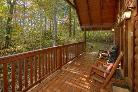 Rocking Chairs on Covered Deck - Gray Fox Den